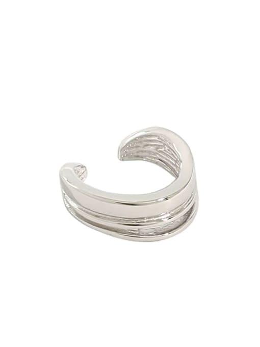 Dak Phoenix 925 Sterling Silver Irregular Minimalist Huggie Earring [Single] 4